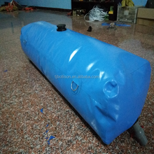 Long Time Durability 1000Liter PVC Inflatable Water Storage Tanks / Bladders for Water Plant House