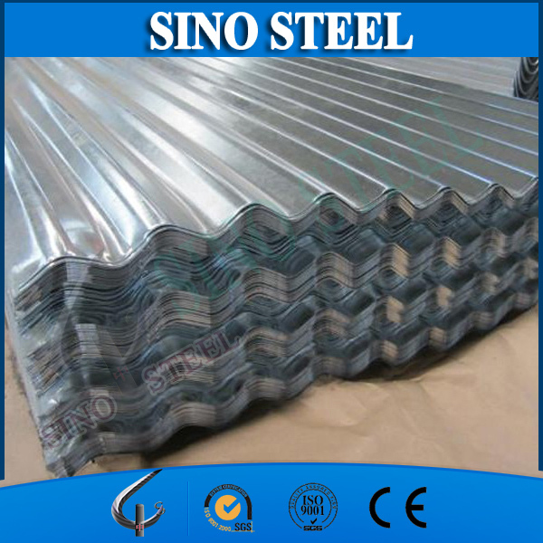 zinc coated corrugated flat roof tiles