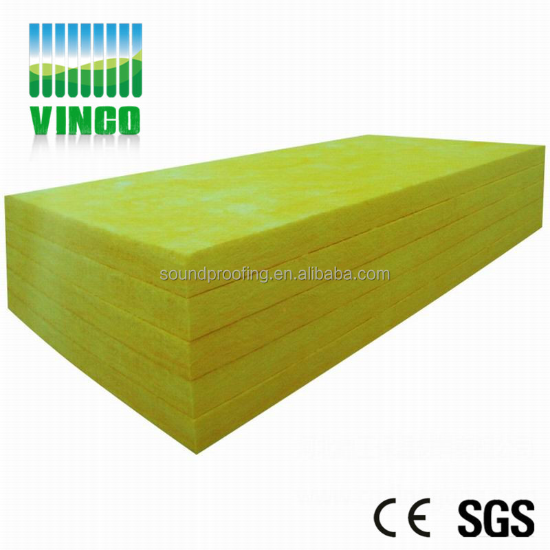 Fireproof cheap price glass wool insulation shenzhen vinco sound proof material