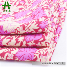 Mulinsen Textile Wholesale Woven Wool Peach Printed Polyester 1 Per Meter Fabric