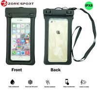 Floating Waterproof case, Cap Design Waterproof Bag for iPhone 6/6s/6 plus, for Samsung Galaxy S6,Black