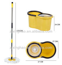 2nd Generation 360 Degree Spin Mop & Spin Dry Bucket 2 Heads without Pedal Chenille Microfiber Mop