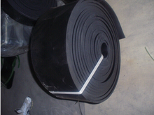 Skirt board rubber sheet for conveyor belt