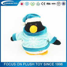 2016 hot jumping christmas soft musical plush toy pingu