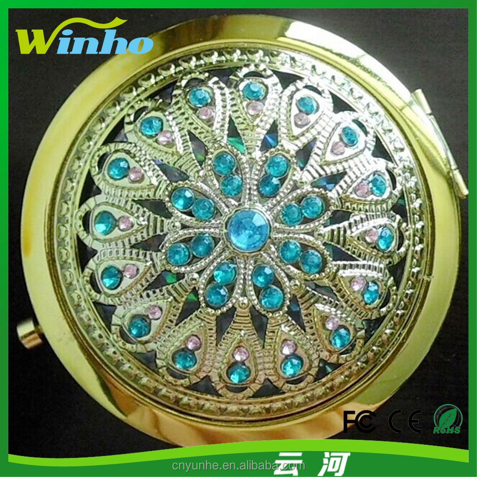 Winho beautiful antique vintage compact mirror as gifts