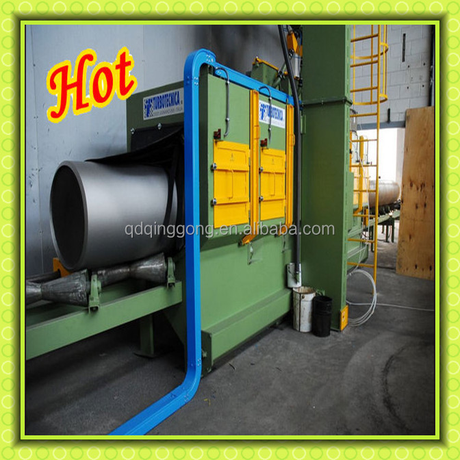 Professional Steel Pipe External Surface Descaling Shot Blasting Machine