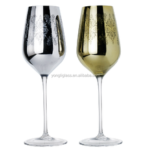 2015 Wholesale high quality red wine glass/ color Plating champagne glass cup for bar/ antique colored red wine glass cups