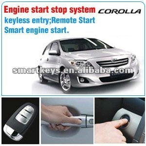 Engine start/stop button system for Toyota Corolla
