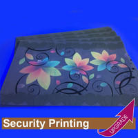 Hong Kong Manufacture Security Paper with UV Logo Colorful Printing