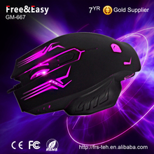 Funny colorful backlight computer gaming mouse with customizable led show