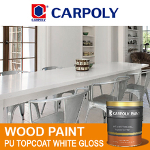 CARPOLY PU topcoat white gloss, Furniture paint, SL7005 Wood paint