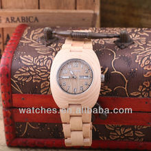 Alibaba Hot Sale High Quality Ladies Bewell Wooden Handmade Watches with Date HQ1367