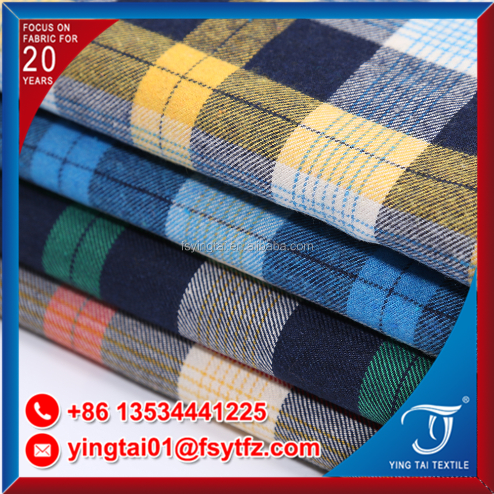 Factory selling directly gingham pattern cotton check fabric school uniform using 100% cotton fabric
