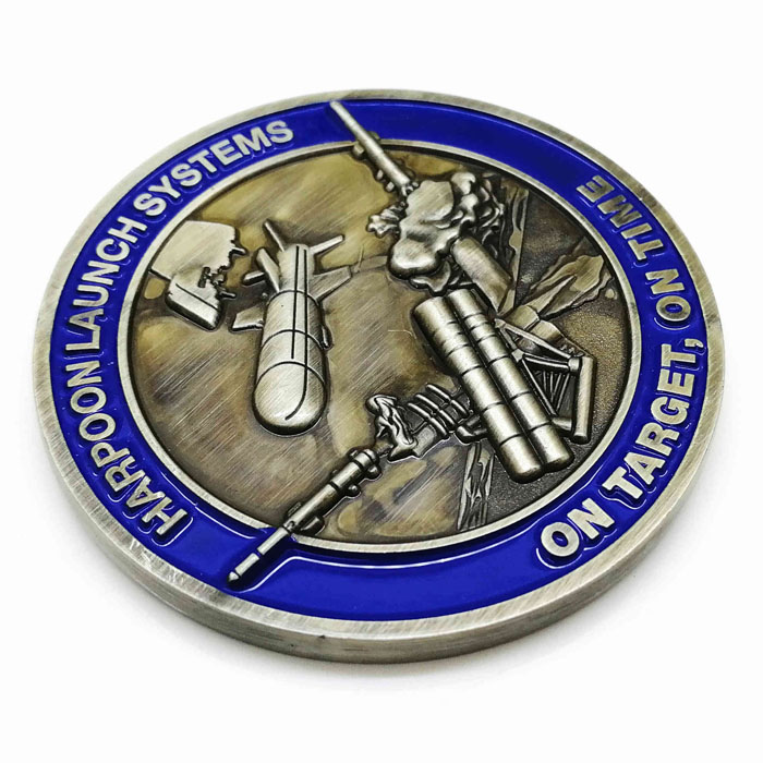 FREE artwork design high quality metal enamel award challenge coin