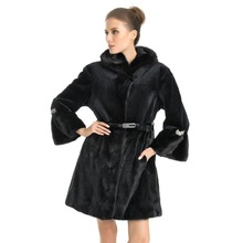 QD70711 High Quality Modern Sheared Velvet Mink Fur Coats Women