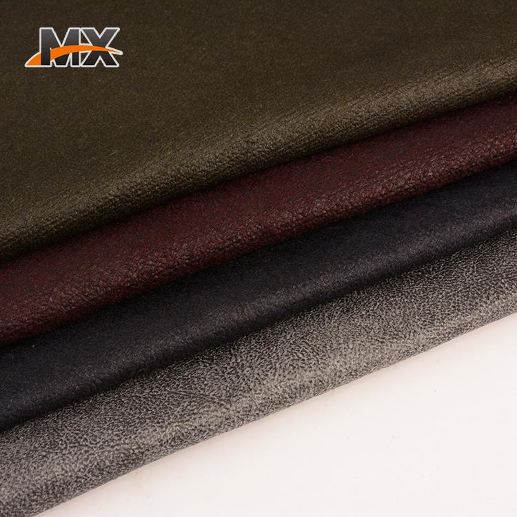 Good quality customized soft handfeel foil print fabric woolen textile