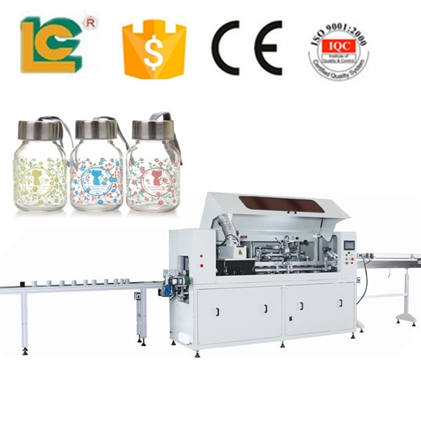 alibaba website automatic all over glass cup screen printing machine LC-169UV