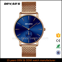 XD001 Custom Gold Luxury Sport Wrist Watch Men With Japan Movt Quartz Watch Stainless Steel Back