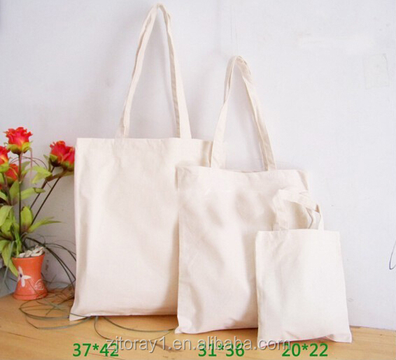 Promotional Cotton Canvas Cheap Foldable Portable Wholesale Reusable Folding Shopping Bag Set