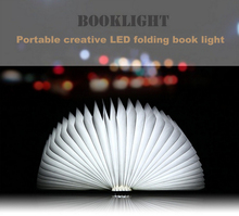 2017 USB chargeable book shape foldable LED book light portable book lamp