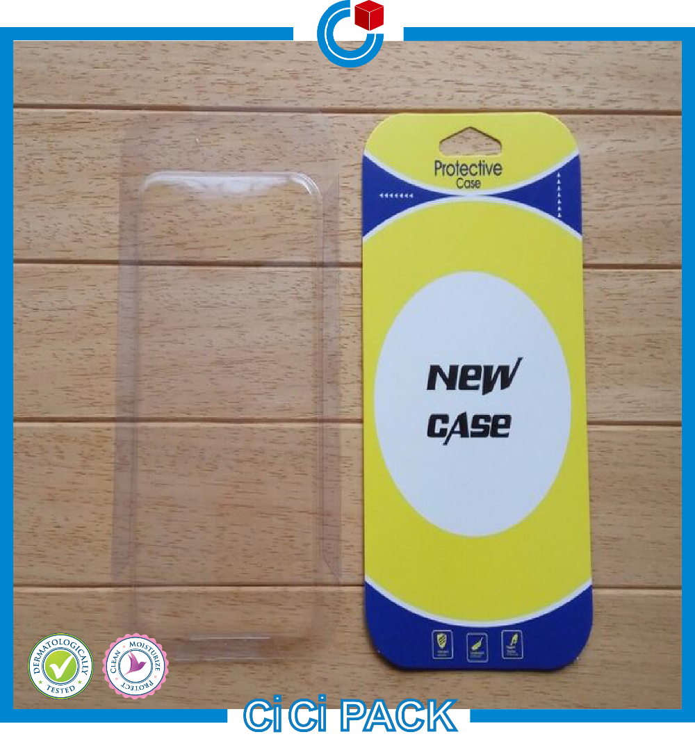 New fashion style custom plastic packaging box for mobile phone case wholesale