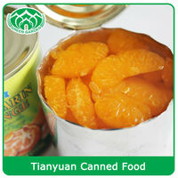Canned Mandarin Orange whole segments in light syrup