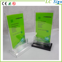 Acrylic Display Stand Plastic Photo Frame Menu Holder