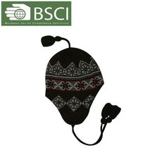children warm earflap knitted ski hat