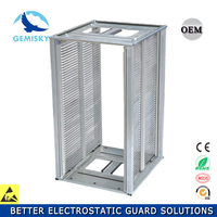 Stainless steel Flexible Dismountabled SMT ESD Magazine Rack for PCB Storage