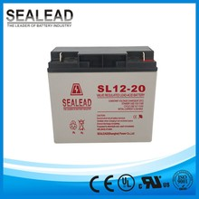 small type UPS 24 hours online power backup rechargeable storage 12v 20ah MF gel battery for UPS company