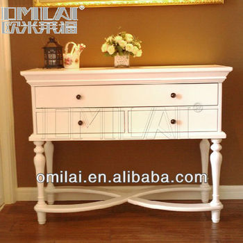 Multifunctional White hallway console table home furniture