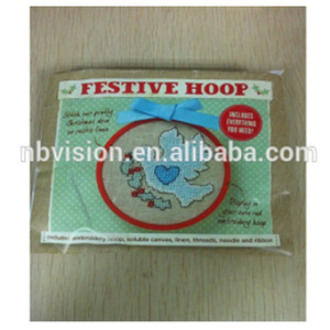 Factory supply Hot Selling Hoop Kit Cross Stitch/dmc Stitch For Promotion