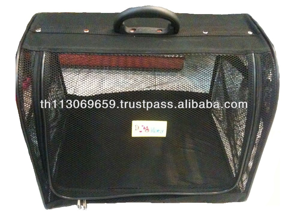 Pet carrier & bed (Black)
