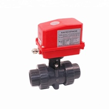 CTF-002 40mm 50mm plastic PVC motorized ball valve 12v 24v 220v for industrial water treatment