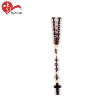 Huanan Factory Wholesale Catholic Religious Natural Olive Black BeadS For wood Rosary Making Bead Necklace