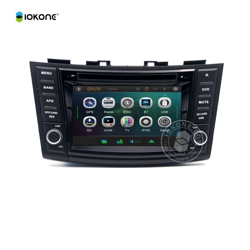 Factory Wholesale Wince Car DVD Multimedia Player GPS Navigation Radio Bluetooth for SUZUKI SWIFT DVD Players for Cars