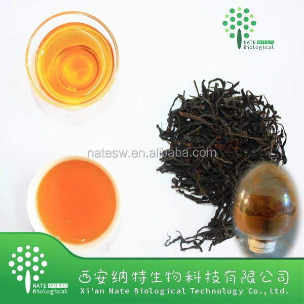 Black tea extract 10%-90%polyphenols, 2%-10%caffeins, 10%-50% theaflavins