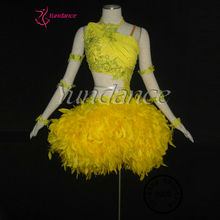 L-1033 China Top Quality Children Girl Wholesale Latin Feather Dance Costume