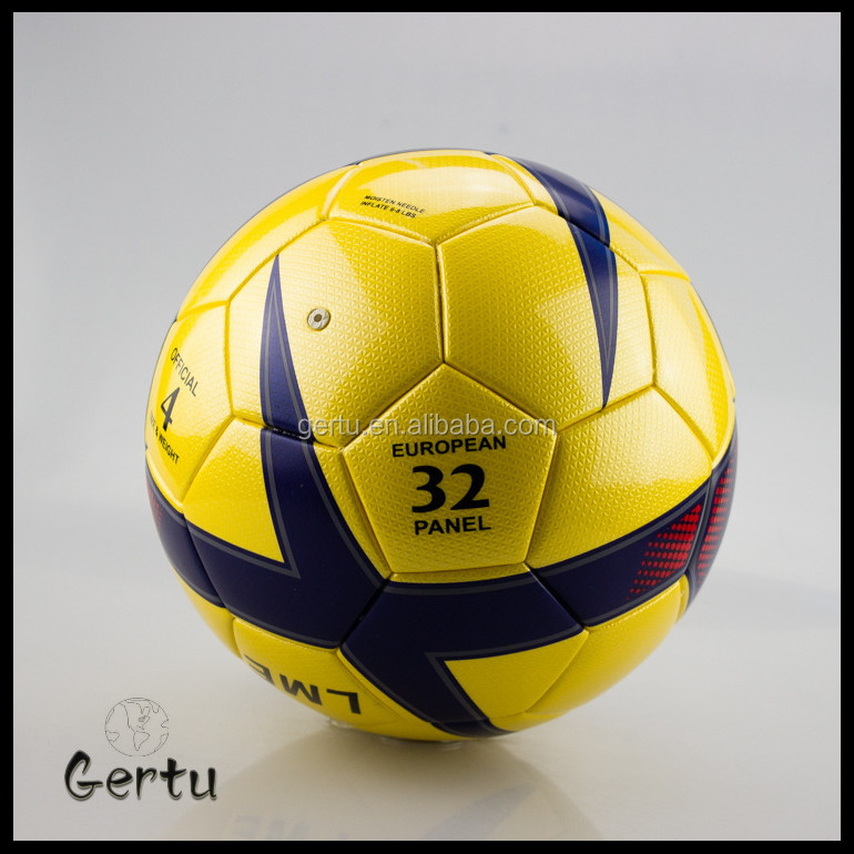 2015 Hot Sale soccer ball size 5# hand sewing PU leather material brand custom logo