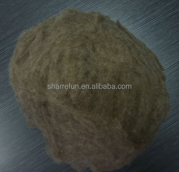 Compettive price of Pure Chinese Sheep wool fiber,Med shade sheep wool factory price