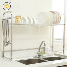 Unique sale stainless steel 304 kitchen dish racks over the sink vegetable rack