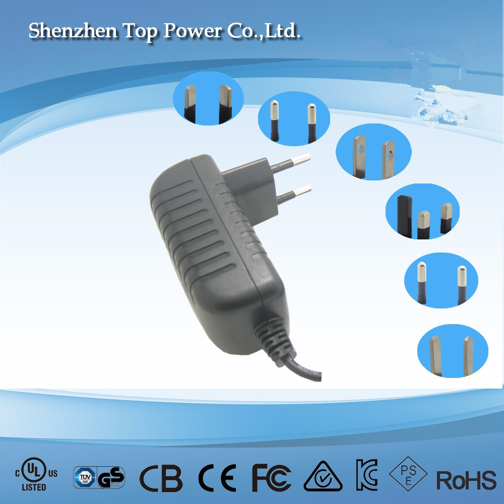 CE EU Wall mounted AC DC 25W 12V 2A Power Adapter 12 Volt 2 Amp Switching Power Supply