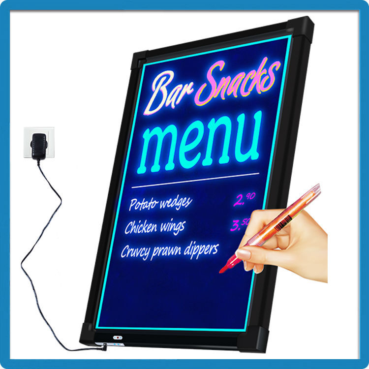 Best selling products in America battery led writable sign A7 with 50*70cm/60*80cm