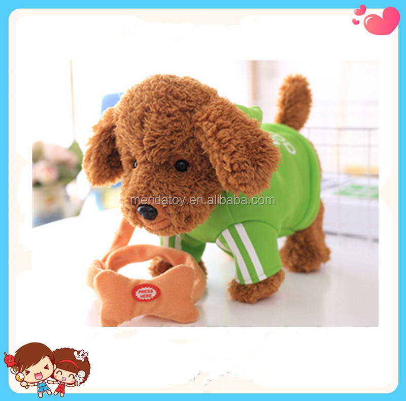 2016 new design electronic plush dog toys with T-shirt singing and dancing dog toys