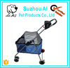 4 Wheels Pet Stroller Cat Dog Cage Stroller Travel Folding Carrier Dog Cage with Wheels