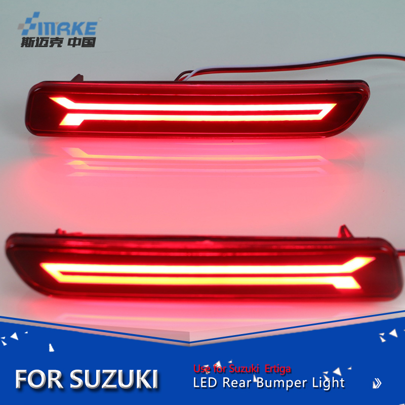 Smrke Car styling led rear bumper led for suzuki ertiga breeza ciaz led rear reflector+brake lamp