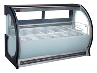 Gelato Ice Cream display showcase/Counter freezer ice cream CE