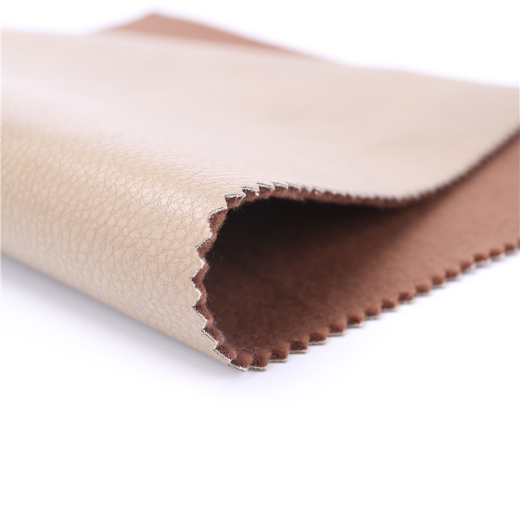 Widely Use textured sofa leather soft pu material