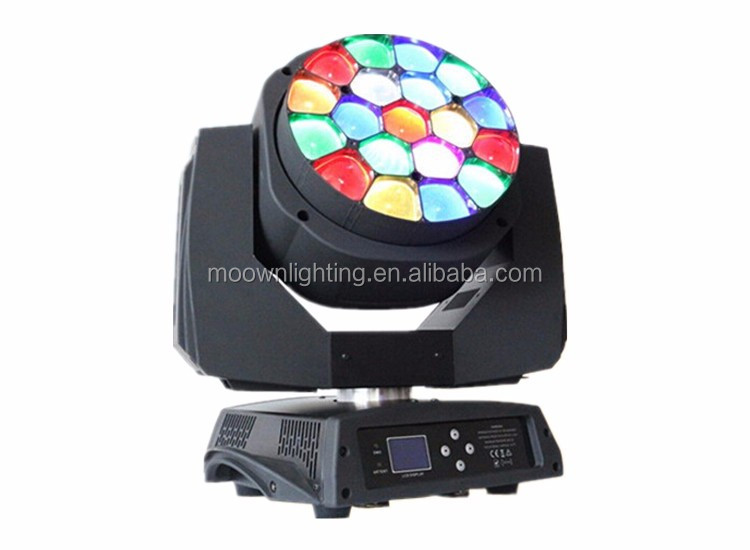 19*15w rgbw 4in1 clay paky bee eye led moving head light