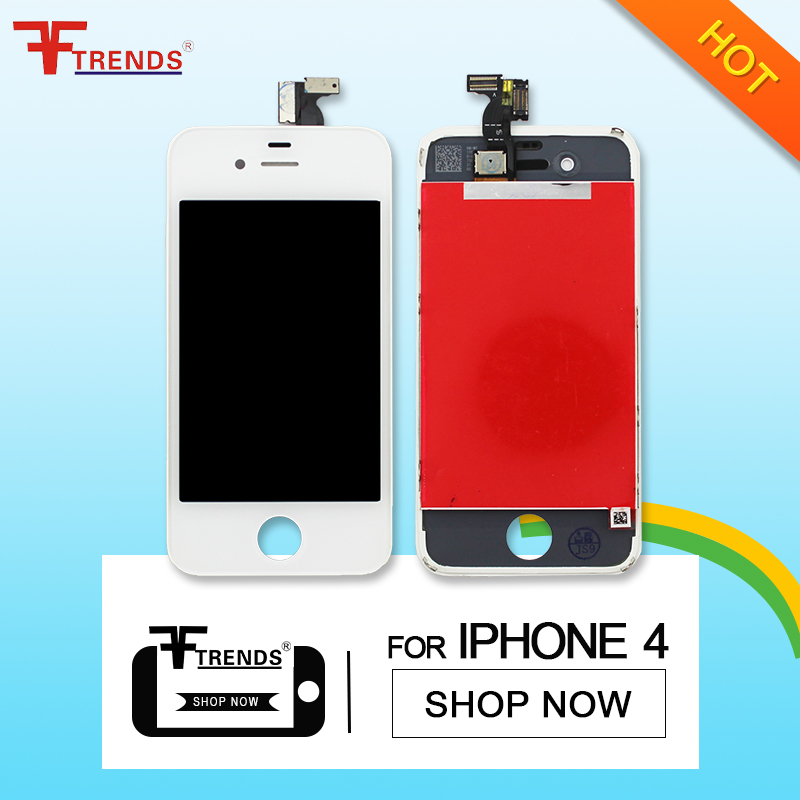 2017 Replacement Glass Complete LCD Touch Screen , LCD Display Spare Parts Tablet Motherboard , for Apple IPhone 4 LCD Digitizer